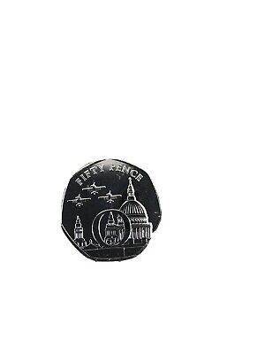 2020 The Letter O Isle of Man VE Day 50p coin Uncirculated From Sealed Bag