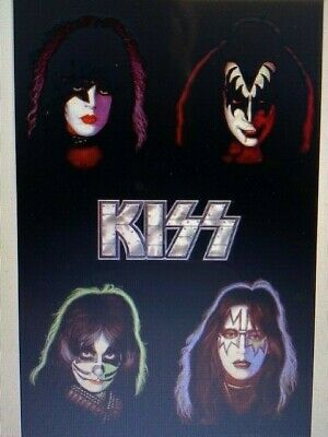 KISS Flag FREE FIRST CLASS SHIP Gene Simmons Paul Stanley Poster Sign New Banner