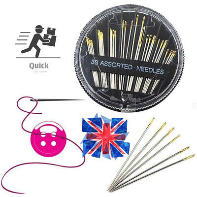30 Pcs Assorted Hand Sewing Needles Embroidery Mending Craft Quilt Case