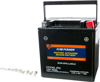 Fire Power Battery CTX30L Sealed Factory Activated Compatible With Arctic Cat