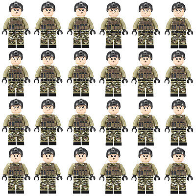 24pcs LEGO CUSTOM SWAT Team Minifigures Men Figures Army Police Squad Military