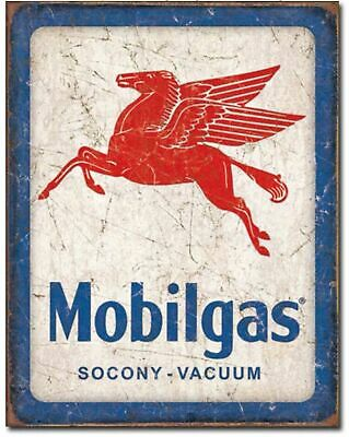 Mobil Gas Service Station Metal Ad Sign Picture Repair Shop Garage Wall Gift