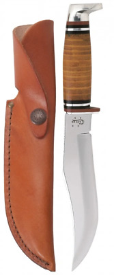 """Case Leather 5"""" Combination Skinner Hunter with Leather Sheath"""
