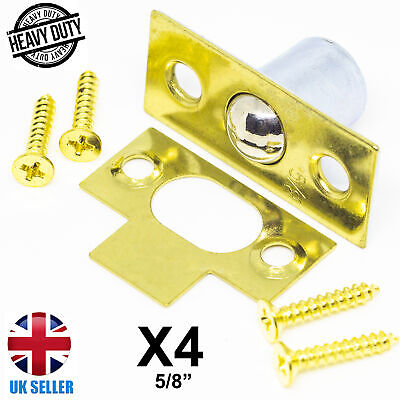 SCREWS BALES CATCH MORTICE LATCH 19MM 3//4 ROLLER BALL NICKLE PLATED PACK OF 2