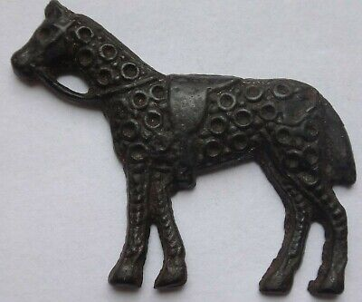 Medieval Byzantine Applique of Horse.  5,42 g / 38 mm