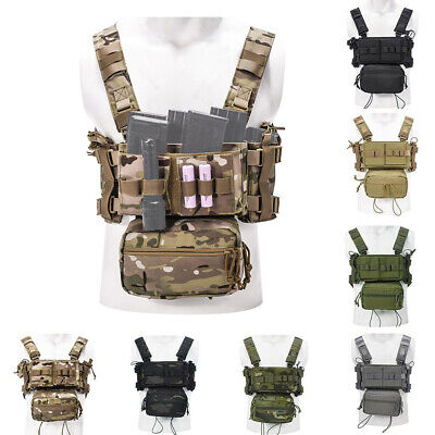 KRYDEX MK3 MK4 Micro Fight Chest Rig Chassis Tactical Carrier with Mag Pouches