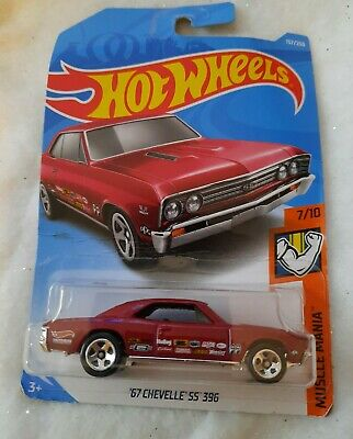 2018 HOT WHEELS /'67 Chevy Chevelle SS 396 MUSCLE MANIA Red Mooneyes 7//10 1967