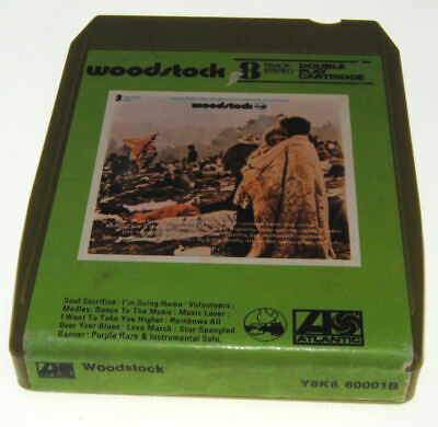 8-TRACK 8 TRACK tape cassette cartridge WOODSTOCK OST hendrix jefferson  airplane - £18.99 | PicClick UK