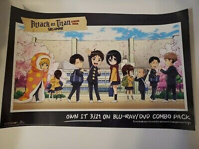 Attack On Titan Junior High 17 x 11 Poster 2017 NYCC Funimation