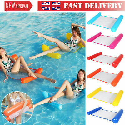 Inflatable Floating Water Hammock Pool Lounge Bed Swimming Chair 200kg load UK