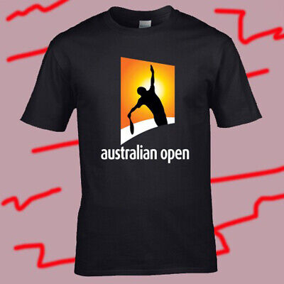 Australian Open AO Tennis Championship Logo Men/'s White T-Shirt Size S to 3XL