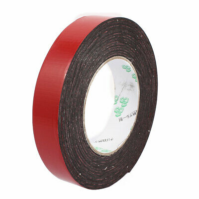 25mm x 1mm Car Vehicle Double sided Self Adhesive Foam Tape 5 Meters Length