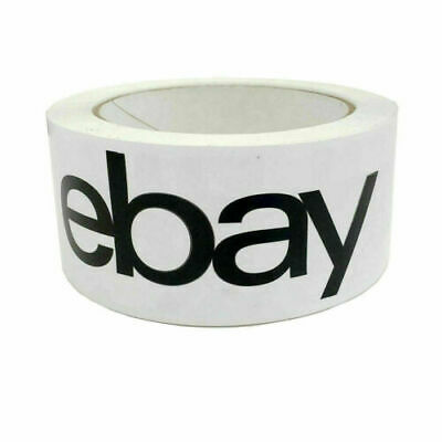 6 x White eBay Branded Packaging Strong Parcel Packing Tape 66m Long 48mm Wide