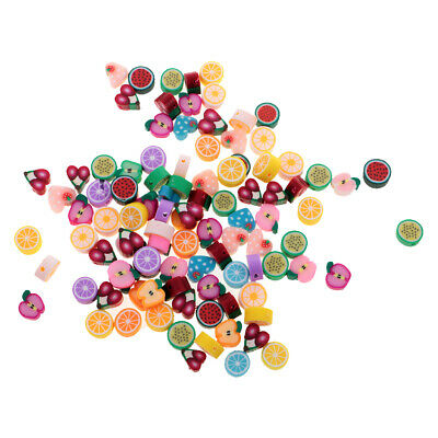 100Pcs / Lot 10mm Fruit Beads Polymer Clay Beads Bijouterie Mixed Color DIY