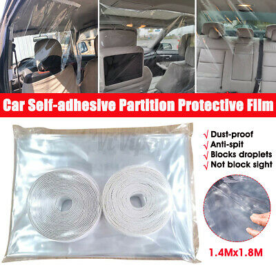 Uber Lyft Taxi Car Adjustable Partition Isolation Virus Shield Film Protective