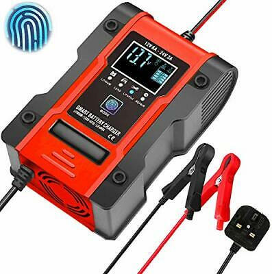 Smart Lithium Car Battery Charger, 12V 6A/24V 3A Battery Charger, 7-stage Car