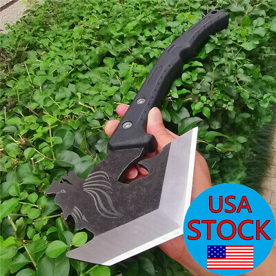 """14.2"""" Full Tang Survival Tomahawk Throwing Axe Hatchet Tactical Hunting Knife"""