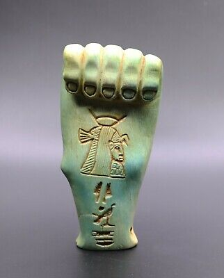 RARE EGYPTIAN ANTIQUES EGYPT ISIS Hand God STATUE Carved STONE BC