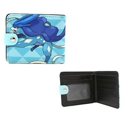 New Suicune POKEMON BiFold Wallet with Button (Standard Size Billfold)