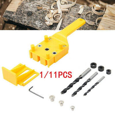 Details about  /Handheld Dowel Set Jig Drill Bits Locator Guide Woodworking Doweling