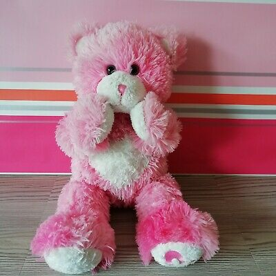 Pink & White Bear with Magnetic Hands, Build-A-Bear BAB Plush Cuddly Soft Toy