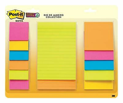 Post-it Notes Yellow Green Blue Pink Orange Super Sticky 3X3 2880 pages NIP