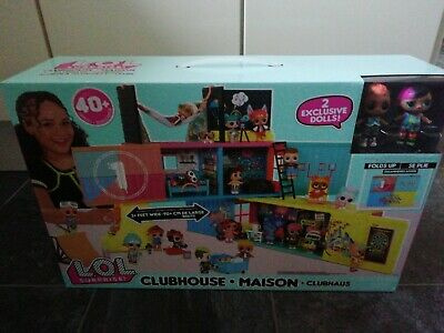 LOL Surprise Clubhouse Playset 40+ Surprises & 1 Doll+1 boy + furniture NEW 2020