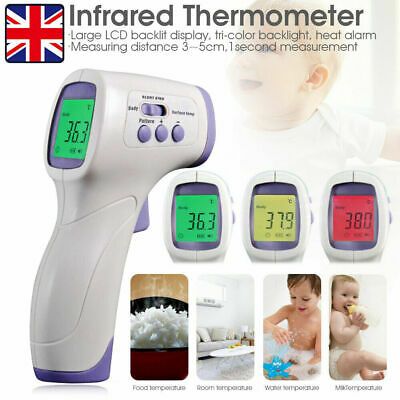 IR Infrared Digital Non-Contact Forehead Thermometer Adult/Baby Temperature Gun