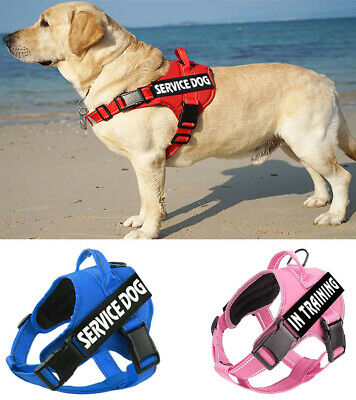 No Pull Service Dog Harness Adjustable Walking Puppy Pet Vest& 2 Free Patches US