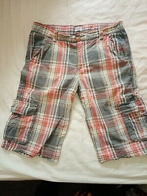 Boys Aged 13-14 Years Checked Shorts