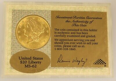 1904 $20 Liberty Head Gold US Coin