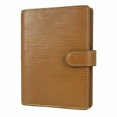 Auth LOUIS VUITTON R2005I Epi Leather Agenda PM Daily Planner Cover Spain 16505b