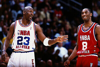 "Kobe Bryant & Michael Jordan NBA Basketball All-Star Game - 24"" x 36"" Poster NEW"