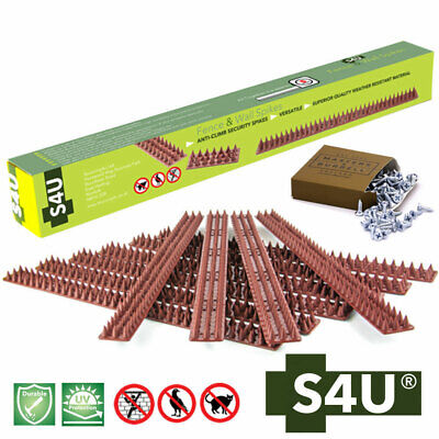 Fence Wall Spikes Garden Security Intruder Repellent Anti Climb with Wood Screws