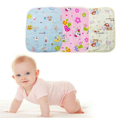 Baby Diaper Mat Cartoon Urine Mats Changing Pads For Infants Washable UK Stock