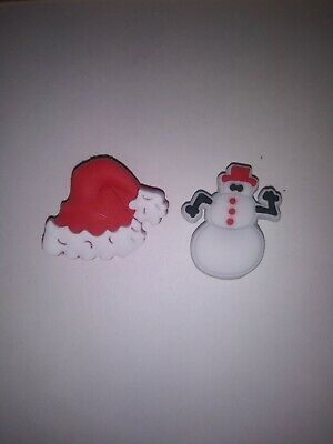 New Snowman 4 Pack Jibbitz Crocs HTF Christmas Licensed Authentic Fast Ship!