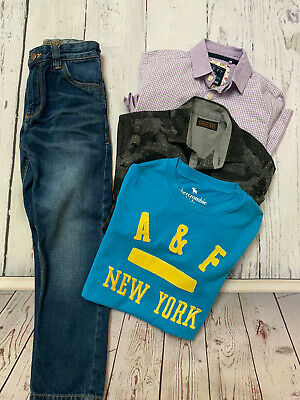 NEXT BUNDLE CLOTHING BOYS Age 7 TO 8 ABERCROMBIE AND FITCH Blue Jeans Polo Shirt