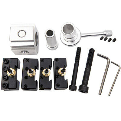 """Quick Change Tool Post Set for 7x10, 7x12, 7x14"""" Fit Mini Table/Hobby Lathes"""
