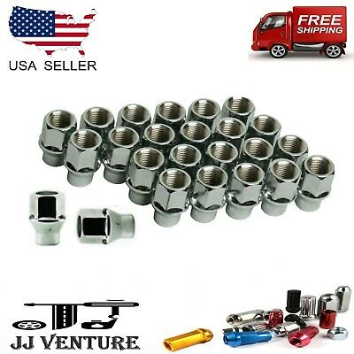 Buyer Needs to Review The spec 20pcs Chrome 7//16-20 Wheel Lug Nuts fit 1979 Oldsmobile Cutlass Supreme May Fit OEM Rims