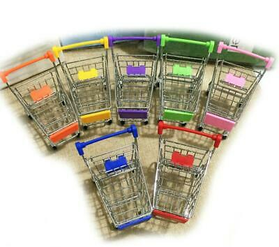Dollhouse Miniature Stainless Steel Supermarket Shopping Model Cart Scale S M0T4
