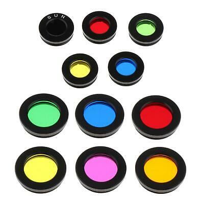 """1.25"""" Eyepiece Filters Sets Colored Planetary & Moon Telescope Filters Kit"""