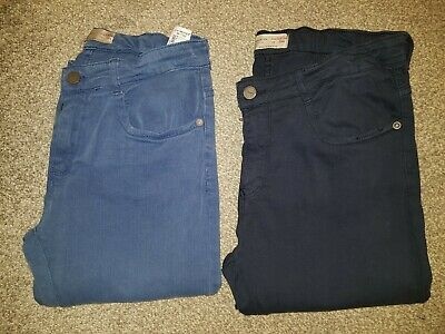2 Pairs Of Zara Boys Collection Skinny Fit Jeans age 13-14 Blue/Navy adjustable
