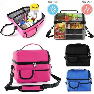 Details about  /Thermal Insulated Lunch Bag Cool Bag Picnic Adult Kids Food Storage Lunch Box UK