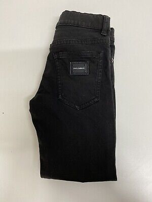 Dolce And Gabbana Boys Pants Jeans Age 4 Yrs Black Slim Fit
