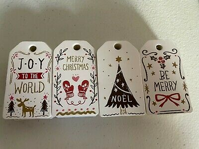 100 Pcs Gift Label Vintage Paper Hang Tag Craft DIY Products Note Wrapping Cute