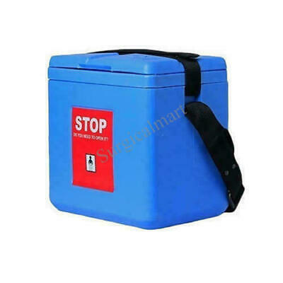 With 4 Ice Pack Medium Vaccine Carrier Box Capacity 1.5 Liters Fast Shipping
