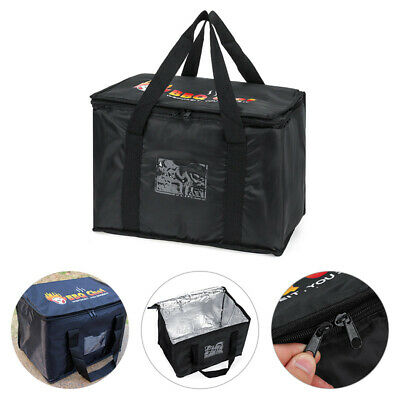 Hot Food Pizza Takeaway Restaurant Delivery Bag Thermal Insulated 43X30X31Cm