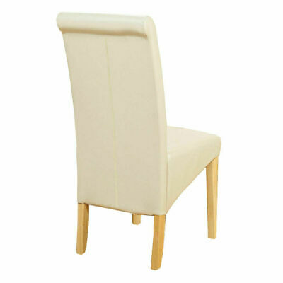 Pu Leather Dining Chairs Wooden Legs Room Home Restaurant Black Brown Ivory Red Eur 35 13 Picclick De