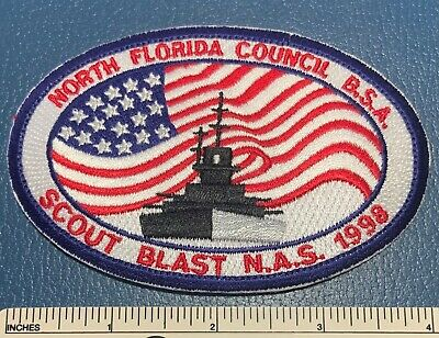 North Florida Council BSA Scout Blast Patch 1998 Military Ship