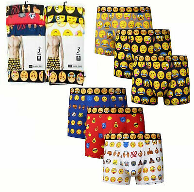 7 Days Mens Boxers Shorts Trunks 7 Pack Underwear Emoji Faces Neon Free Shipping